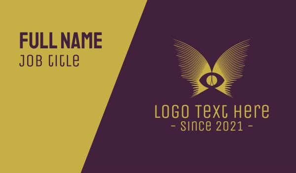 eyesight - Golden Eye Wings Business card horizontal design
