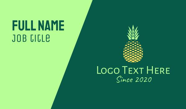 healthy food - Simple Geometric Pineapple Business card horizontal design