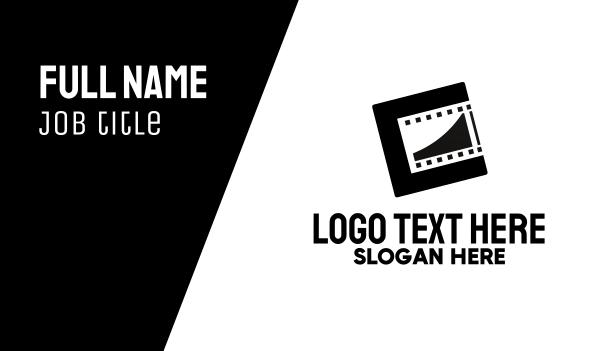tape - Modern Film Reel Business card horizontal design