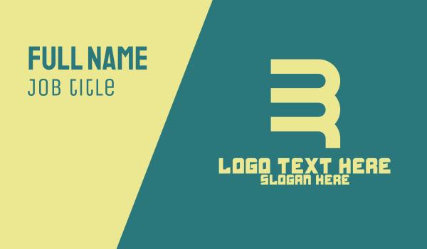 B & R Monogram Business Card