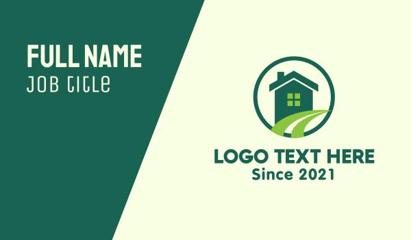 Modern Green Home Business Card