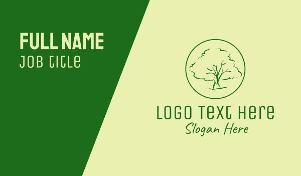 eco park - Green Oak Tree  Business card horizontal design