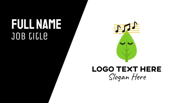 music note - Organic Music Business card horizontal design