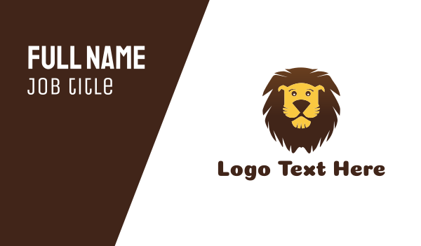 jungle - Cartoon Illustration Lion Business card horizontal design