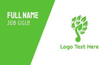 Green Leaf Music Logo Business Card