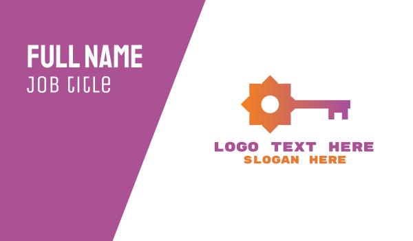 keyhole - Flower Key  Business card horizontal design