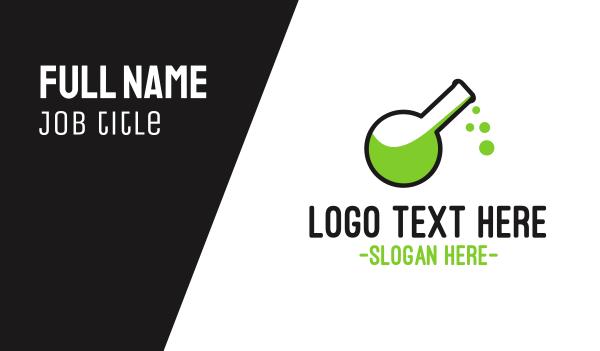 chromatography - Toxic Green Poison Business card horizontal design