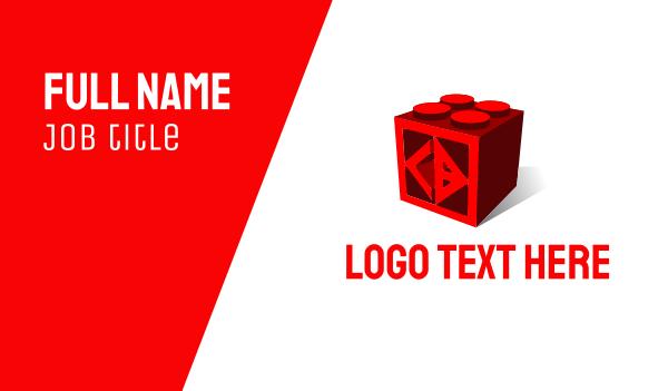 blocks - C & D Cube Business card horizontal design