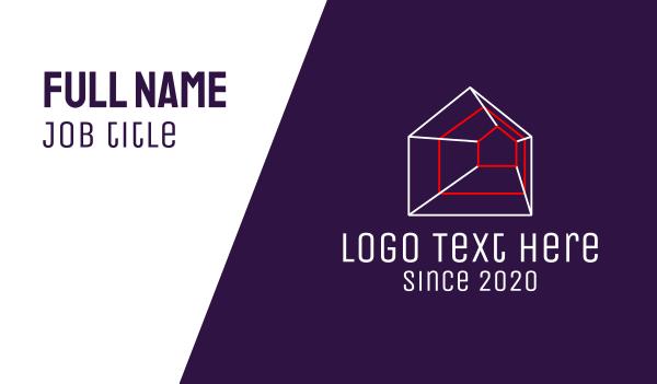 room - Geometric Housing Property Business card horizontal design