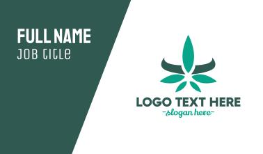 Modern Cannabis Leaf Business Card