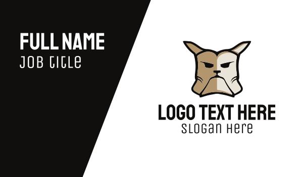 french bulldog - Tough Bulldog Dog Business card horizontal design