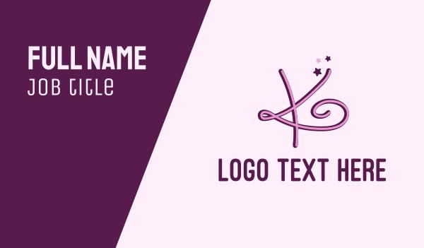 beauty - Star Letter K Business card horizontal design