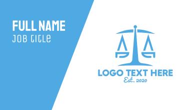 Minimalist Law Firm  Business Card