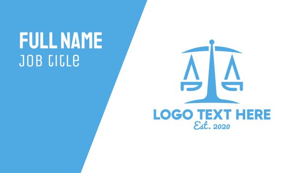 politics - Minimalist Law Firm  Business card horizontal design