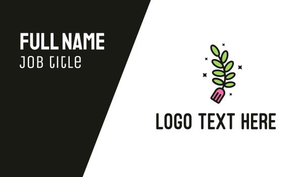 twig - Organic Restaurant Business card horizontal design
