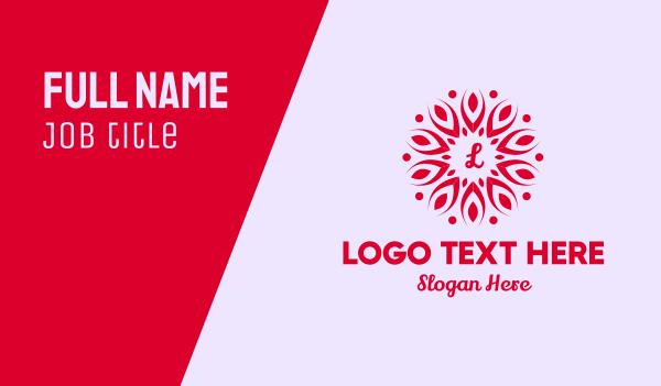 petals - Leaf Petals Lettermark Business card horizontal design