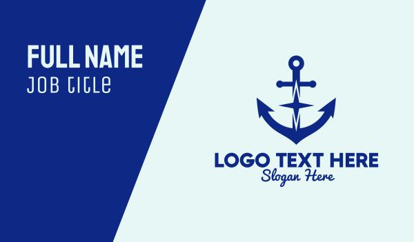 marine - Anchor Star Business card horizontal design