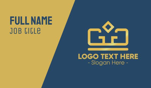 reign - Golden Crown Business card horizontal design