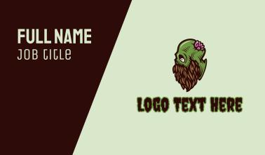 Creepy Zombie Beard Business Card
