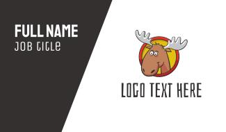 Moose Cartoon Business Card