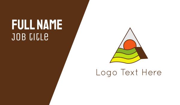 green triangle - Triangle & Landscape Business card horizontal design
