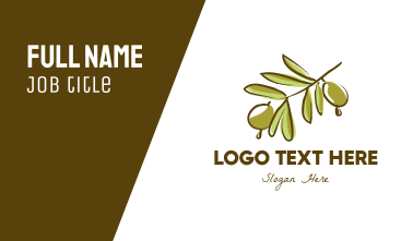 Olive Tree Business Card