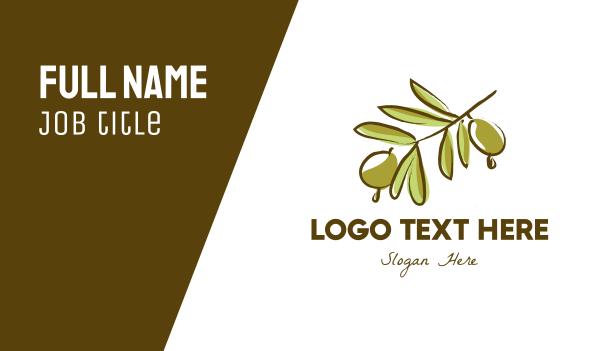 green olive - Olive Tree Business card horizontal design