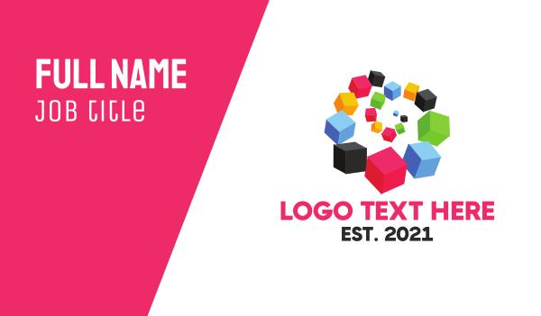 portal - Box Spiral Business card horizontal design