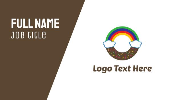 doughnut - Rainbow Donut Business card horizontal design