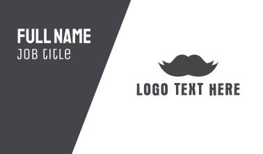 Black Moustache Business Card