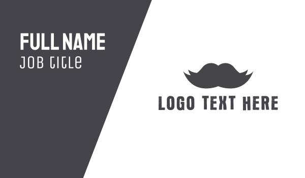 english - Black Moustache Business card horizontal design
