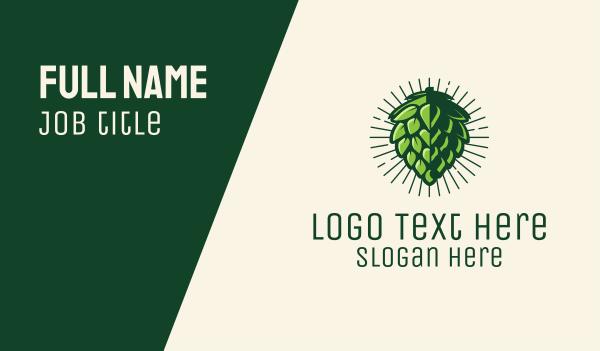 brewer - Hop Plant Beer Hops Business card horizontal design