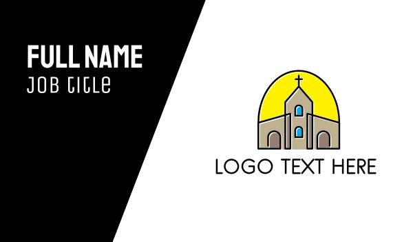 mass - Religion & Church  Business card horizontal design