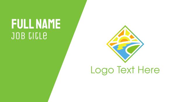 lake - Sunny Valley Business card horizontal design