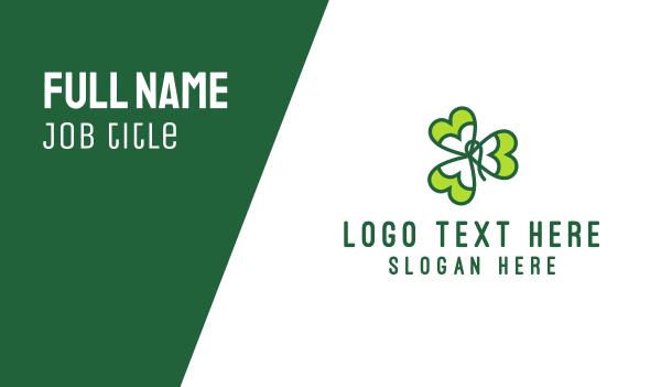 celtic - Irish Shamrock Business card horizontal design