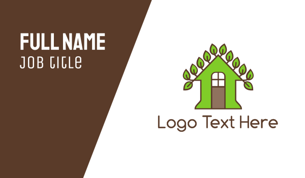tea house - Vine Leaf House Business card horizontal design