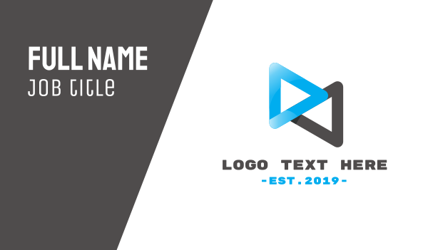 animation - Loop Media Business card horizontal design
