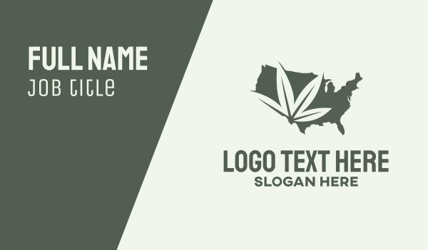 cannabis farm - USA Cannabis Map Business card horizontal design