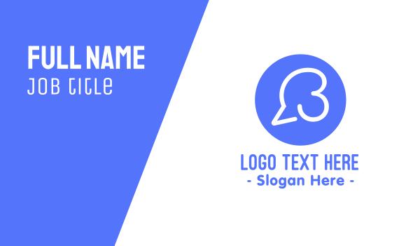 third - Speech Bubble Number 3 Business card horizontal design