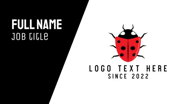 shell - Shield Ladybug Business card horizontal design