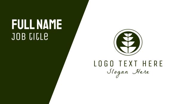 stem - Wheat Plant Business card horizontal design