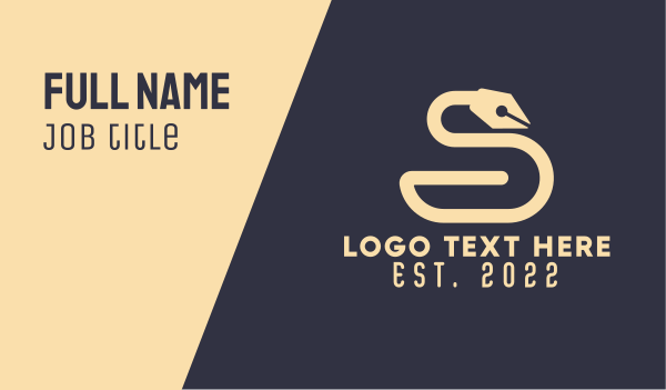 linguistic - Academic Swan Business card horizontal design