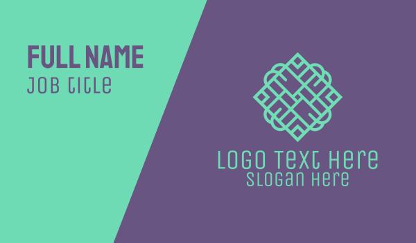 decoration - Tile Pattern Business card horizontal design