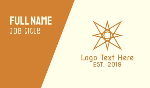 gold star - Abstract Generic Sun Star Business card horizontal design