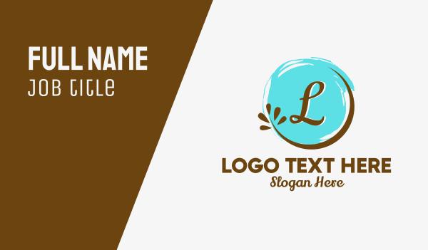 twig - Organic Circle Badge Letter Business card horizontal design