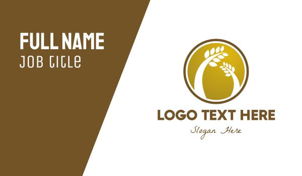grain - Wheat Badge Business card horizontal design