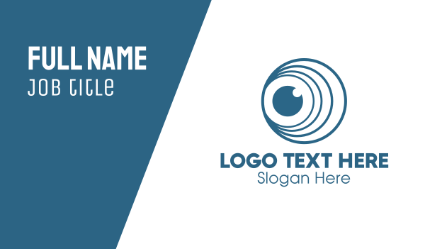 telescope - Circle Loop Lens Business card horizontal design