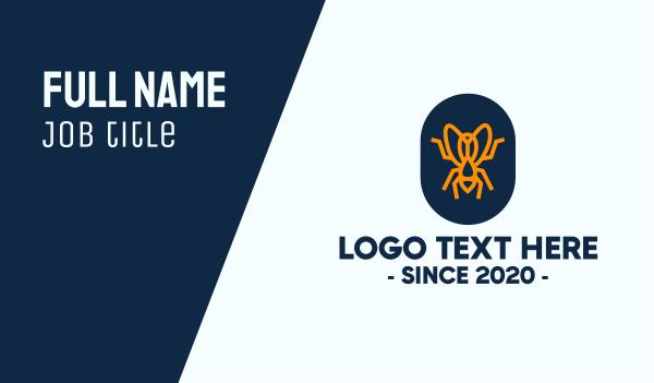 pest - Orange Fly Badge Business card horizontal design