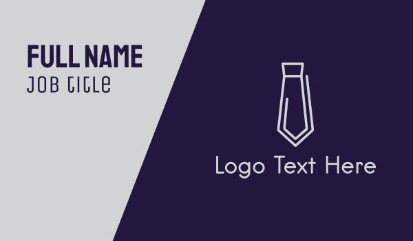 employer - Clip Tie Business card horizontal design