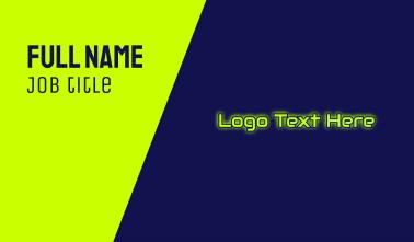 Automotive Glow Text Business Card